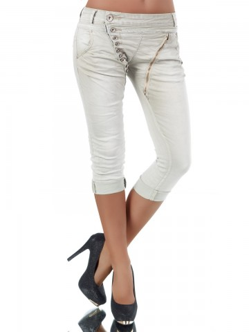 Pantaloni damă 8482 - beige - XL