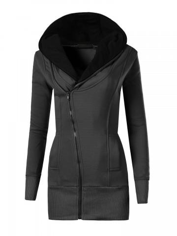 Mikina s kapucí 8364 - černá - S