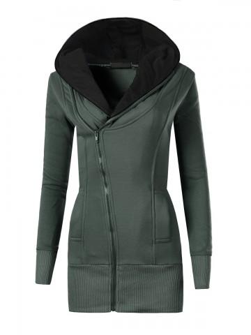Mikina s kapucí 8364 - khaki - L