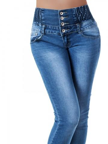 Pantaloni damă 9461 - BLUE - M