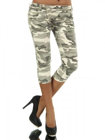 Pantaloni damă 8482 - oliva - XS