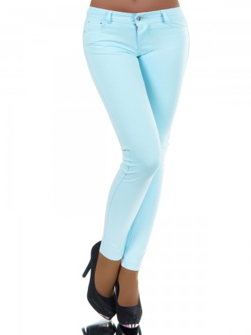 Pantaloni damă 8595 - LIGHT BLUE - M