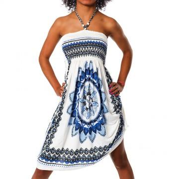 Letní šaty F-023 - modrá - XS/L