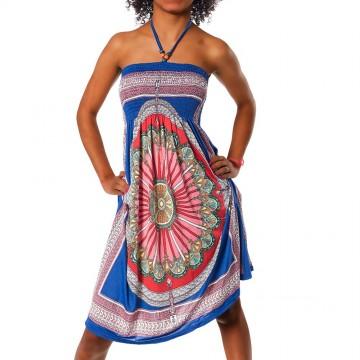 Letní šaty - F26 modrá - XS/L