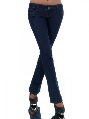 Pantaloni damă 8804 - NAVY - L