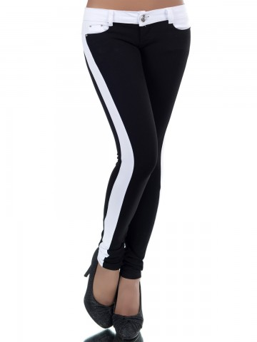 Pantaloni damă 8808 - BLACK - XS