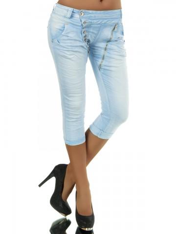 Pantaloni damă 8482 - light blue - M