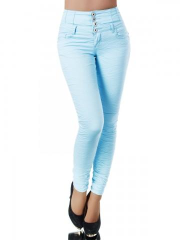 Pantaloni damă 9408 - BLUE - L