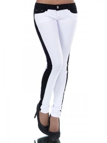 Pantaloni damă 8808 - WHITE - L