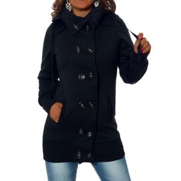 Mikina s kapucí 966 - černá - L