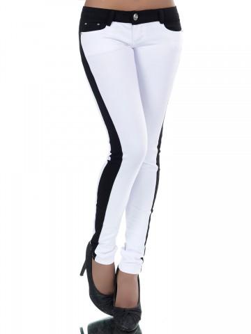 Pantaloni damă 8808 - WHITE - S