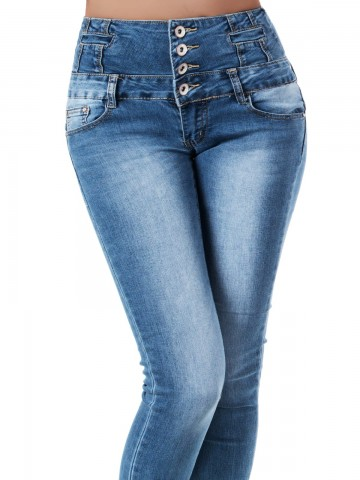 Pantaloni damă 9460 - BLUE - M