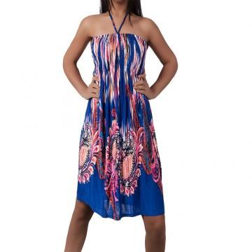 Letní šaty T-1025 - modrá - XS/L