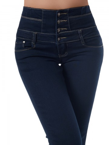 Pantaloni damă 9331 - NAVY - S