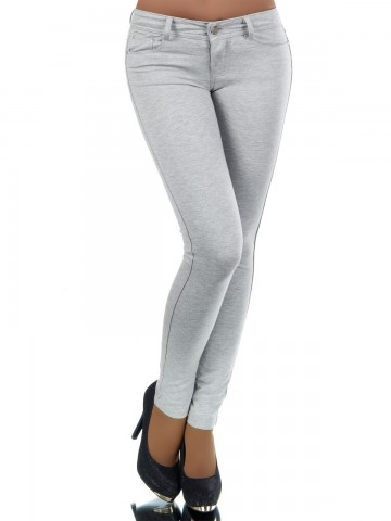 Pantaloni damă 8595 - GREY - XL
