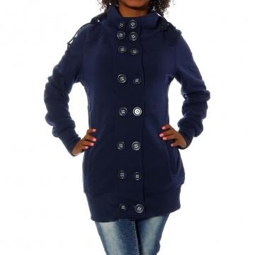 Mikina s kapucí 966 - tmavě modrá - L