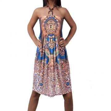 Letní šaty 1015 - modrá - XS/L
