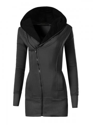 Mikina s kapucí 8364 - černá - L