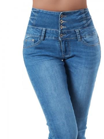 Pantaloni damă 9324 - BLUE - XS