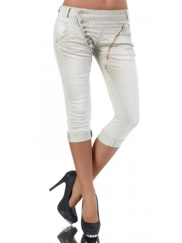 Pantaloni damă 8482 - beige - M