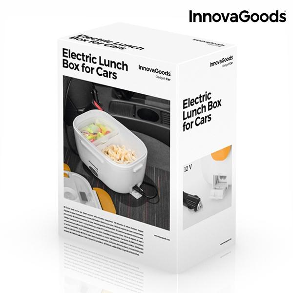 Elektrická krabička na jídlo do auta InnovaGoods, 40W, 12 V - bílo-oranžová