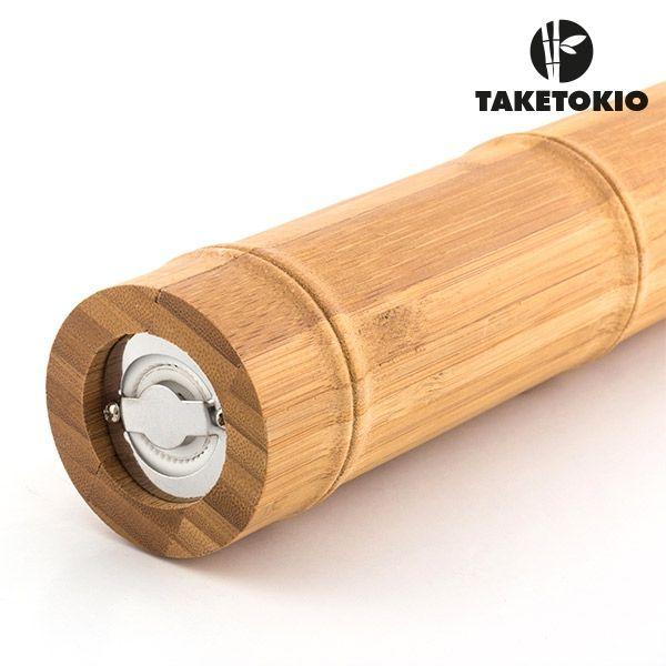 Râșniță de sare și piper bamboo