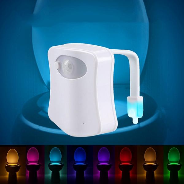 Mozgásérzékelős LED WC- és fürdőszobai világítás