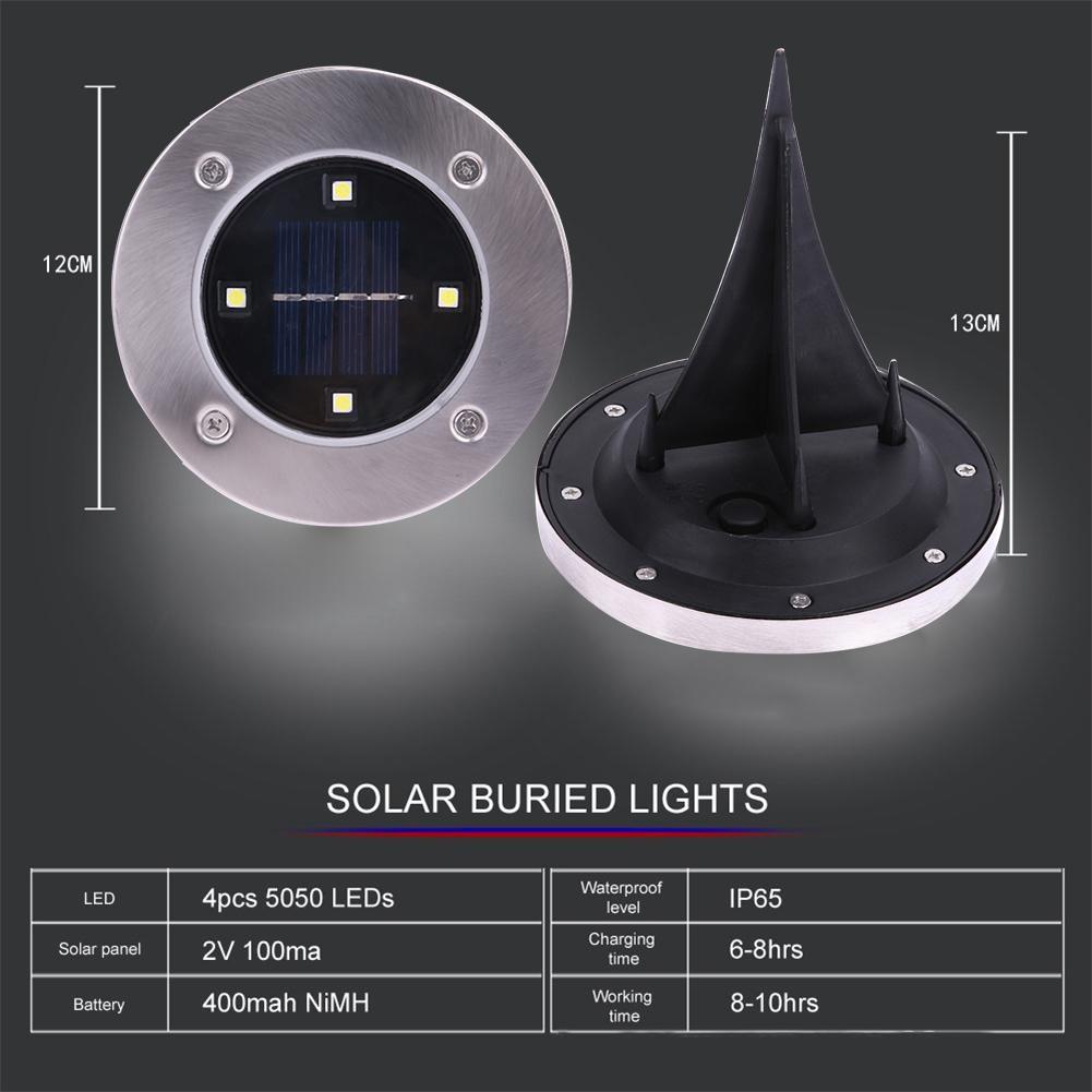 Lampă solară LED pentru grădină  - 2 bucăți