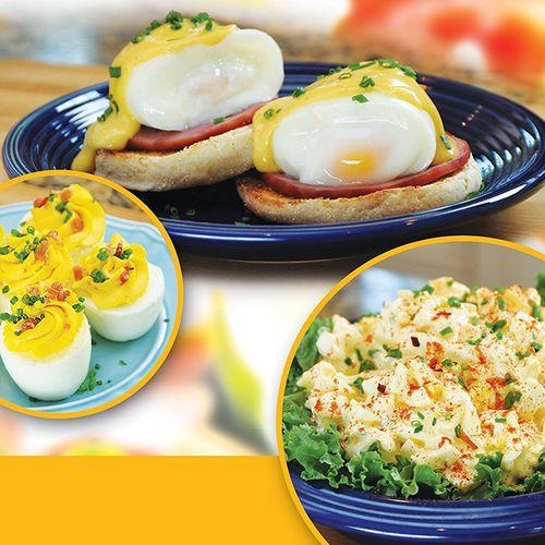 Silikonový pohár na vaření vajec - 6ks