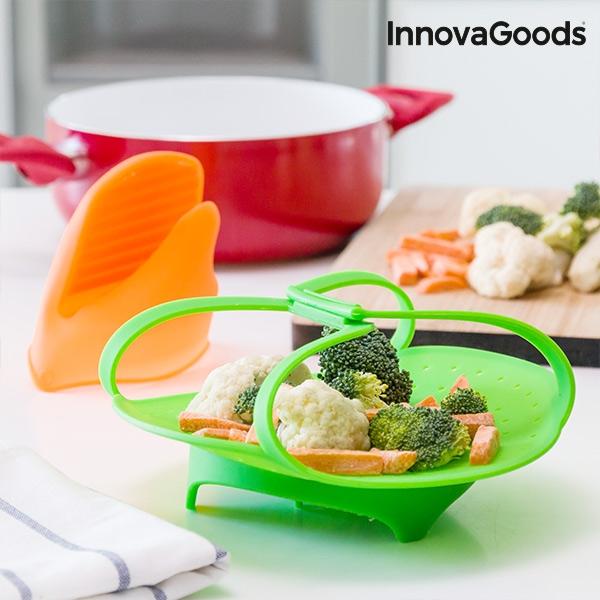 Aparat din silicon pentru gătit la aburi pliabil InnovaGoods