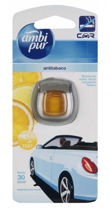 Ambi Pur CAR - osvěžovač do auta, Anti-tobacco citrus - strojek 2ml