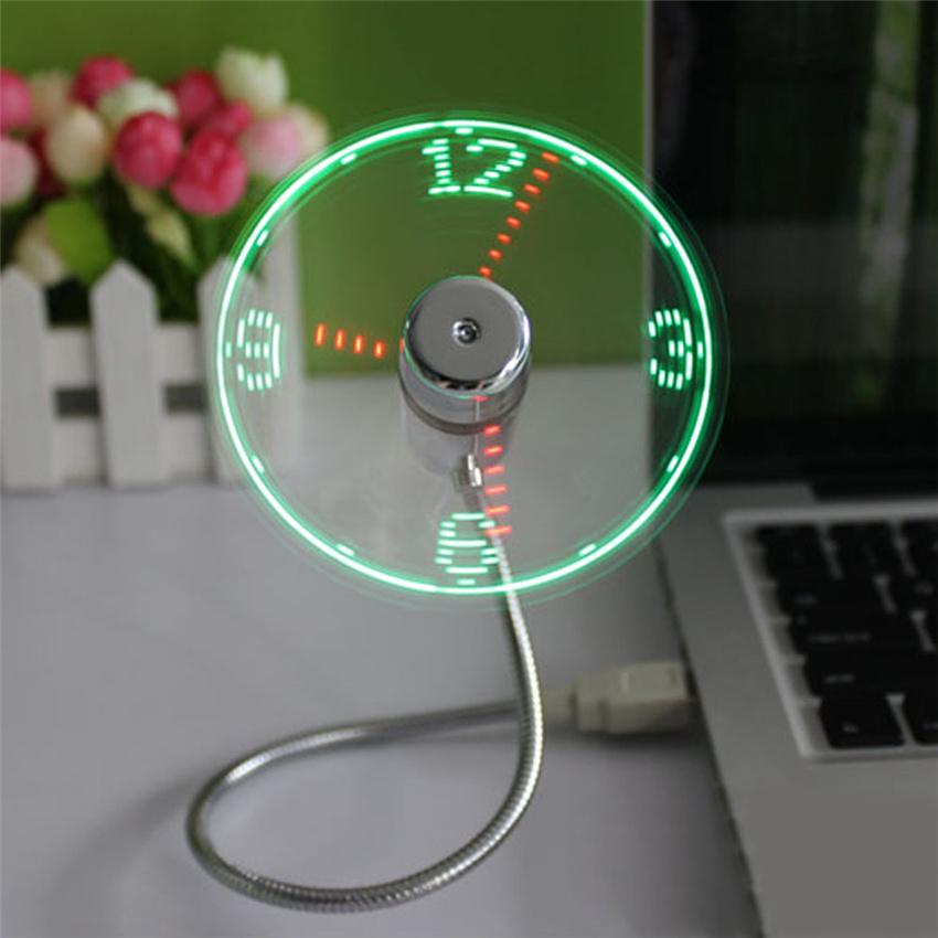 LED USB ventilátor óra