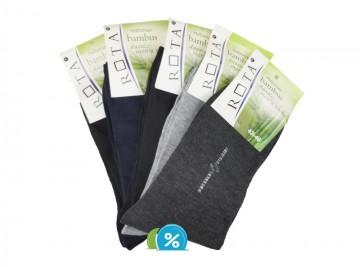 Pánské klasické bambusové ponožky ROTA B024 - 5 párů, velikost 43-46