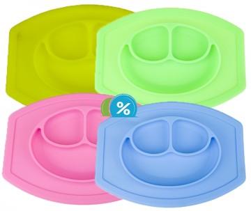 Silikonová podložka a talíř pro děti