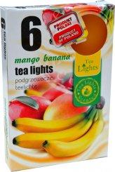 Čajové svíčky 6 kusů –  Mango a banán