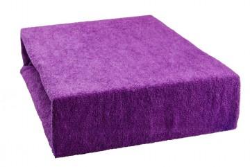 Prostěradlo froté 90x200 cm - fialové