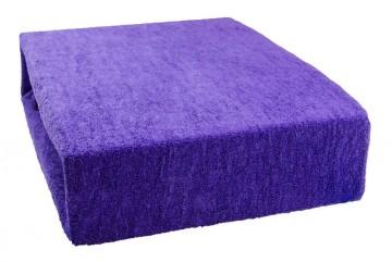 Prostěradlo froté 90x200 cm - tmavě fialové