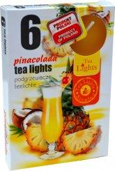 Čajové svíčky 6 kusů –  Pinacolada