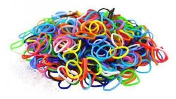 Loom Bands gumičky mini - 2400ks v balení, kombinace barev