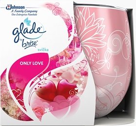 Vonná svíčka ve skle – Glade – Only Love, 120g