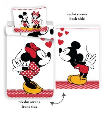 Povlečení Mickey a Minnie láska 140/200, 70/90