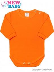 Csecsemő hosszú ujjú body New Baby narancssárga