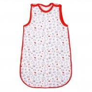 Kojenecký zateplený spací pytel New Baby Hedgehog červený