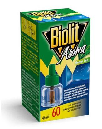 Biolit - tekutá náhradní náplň do elektrického odpařovače 60 nocí - proti komárům, zelený čaj, 46ml