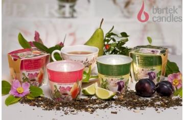 Vonná svíčka ve skle- Černý čaj, švestka a třešňový květ 115g