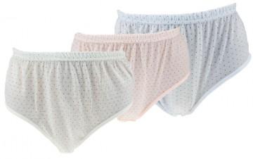 Dámské klasické bavlněné kalhotky Pesail 8311 - 3 ks, velikost XXXL