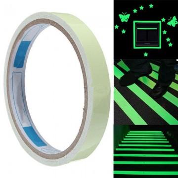 Orientační a výstražná fluorescenční páska 5m - zelená