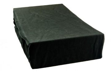 Jersey lepedő 90x200 cm - fekete