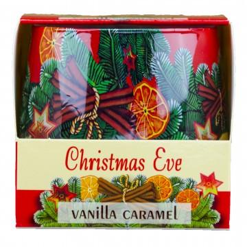 Vonná svíčka ve skle - Christmas Eve, Vanilka a Karamel, 100g