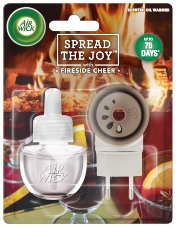 Air Wick elektrický osvežovac vzduchu, strojek & náplň - Pohodlí u krbu